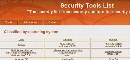 security-tools-list
