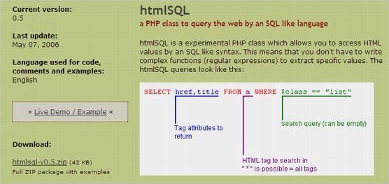 htmlsql
