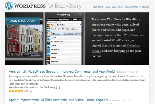 WordPress-for-black-berry