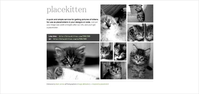 猫の画像をダミー画像として使える・「{placekitten}」