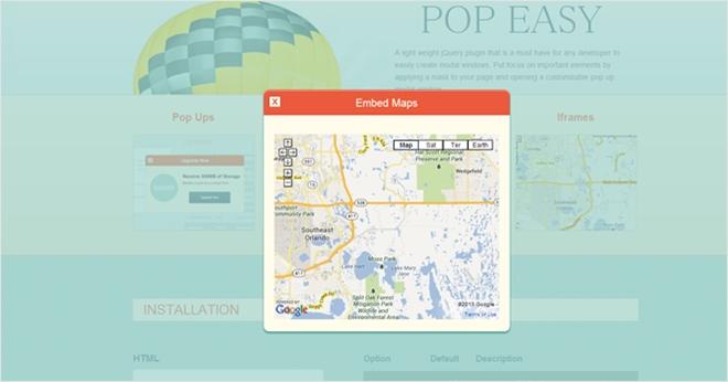 動画やGoogleマップにも対応した軽量なモーダルウィンドウを実装するjQueryプラグイン・Pop Easy | かちびと.net