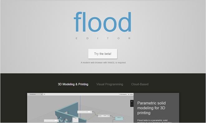 オープンソースとしても公開されているWebGLを使った3Dモデリングツール・「flood」