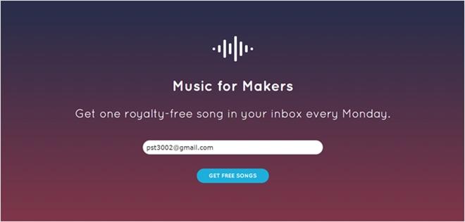 パブリックドメインの音源を週に1回配信してくれる・「Music for Makers」
