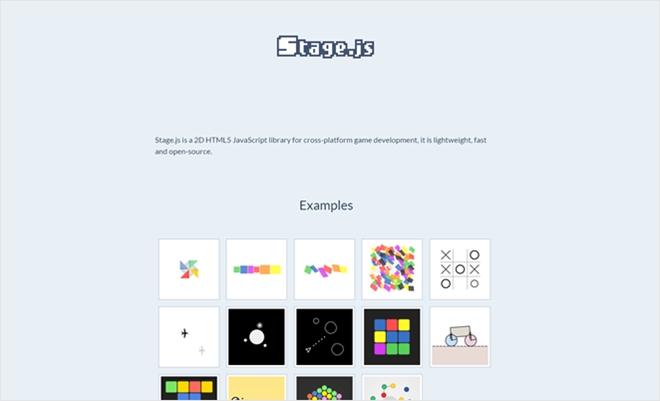 HTML5製の軽量で高速な2Dゲームエンジン・「Stage.js」