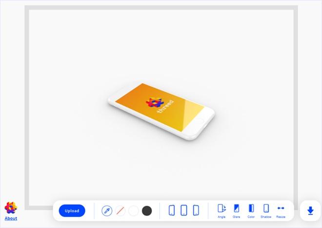 3Dなスマフォのモックアップを作成できる・「threed.io」