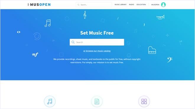 パブリックドメインな音源や楽譜を配布する・「Musopen」
