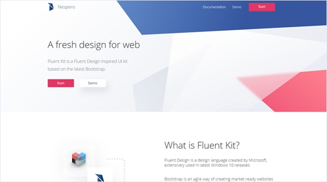 BootstrapにMicrosoft提唱のデザインシステム、Fluentを取り入れたツールキット・「Nespero Fluent Kit 」