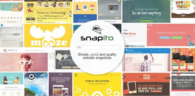 任意のWebサイトのスクリーンショットを撮ってEMBEDも出来る・「Snapito」