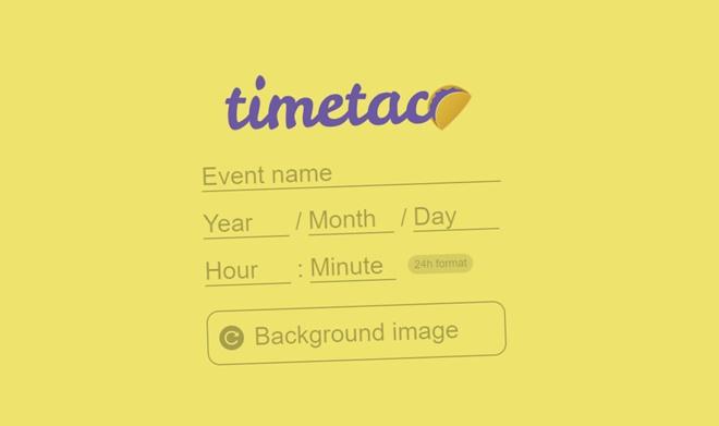 イベント日までのカウントダウンページを手軽に作成、公開できる・「TimeTaco」