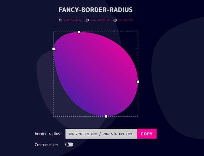 ユニークな形状も作れるborder-radiusジェネレーター・「FANCY-BORDER-RADIUS」