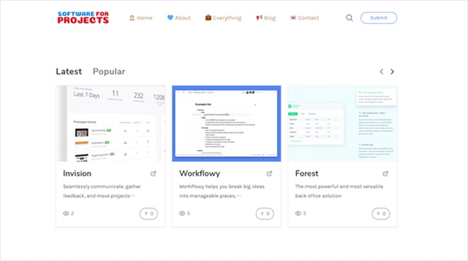 プロジェクト/タスク管理ツールを大量に収集している・「Software For Projects」