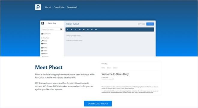 超シンプルなブログシステムを作るためのオープンソースなフレームワーク・「Phost」