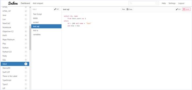 スニペットを管理できるOSSのシンプルなスニペットマネージャ・「Snibox」
