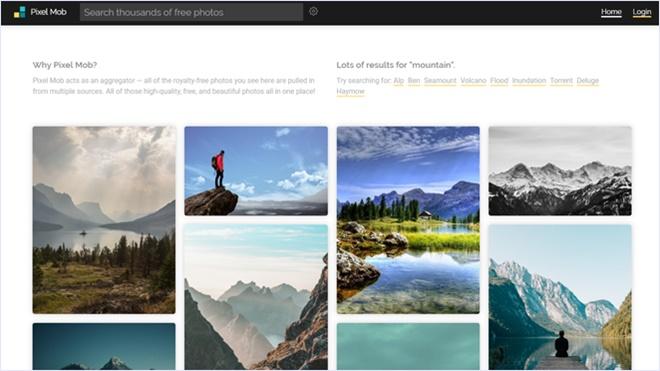 無償で使える高品質な画像を公開するストックフォトのアグリゲーターサイト・「Pixel Mob」