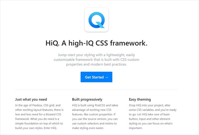 軽量でカスタマイズ性重視の、カスタムプロパティを使ったモダンなCSSフレームワーク・「HiQ」
