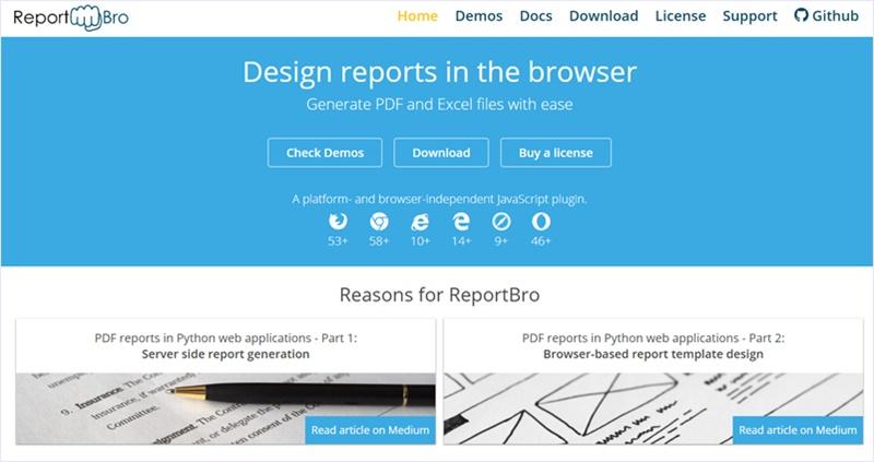 ブラウザで契約書や納品書、請求書などの帳票を作成、PDFにしてダウンロードできるオープンソースソフトウェア・「ReportBro」