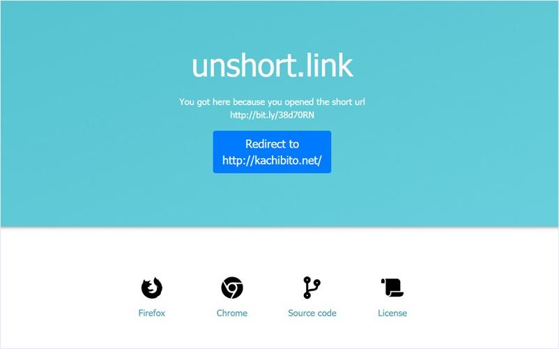 短縮URLを解析して元URLを検出し、トラッキング等を防ぐオープンソースのWebアプリ・「unshort.link」