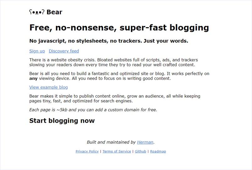 軽量さ重視の、markdownで書けるミニマルなオープンソースのブログシステム・