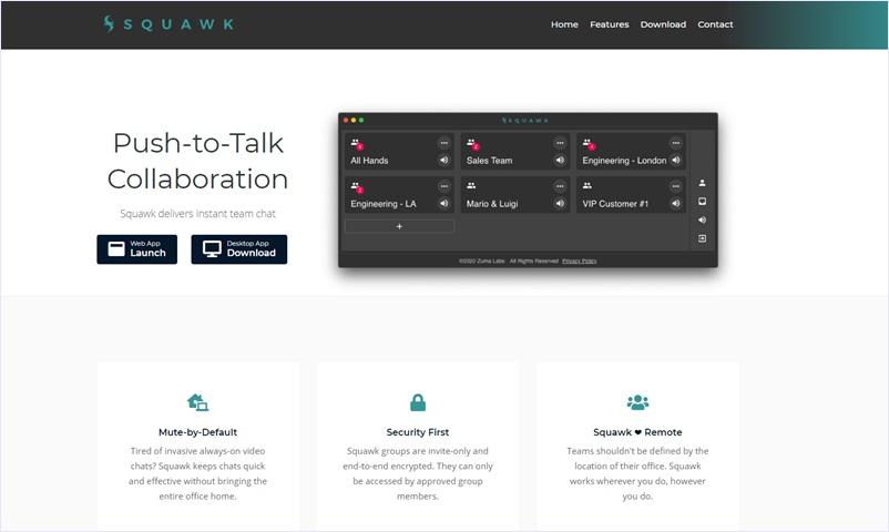 シンプルでセキュリティファーストなグループ音声チャットアプリ・「Squawk」