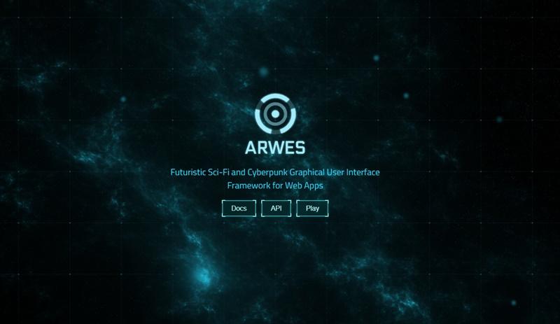 未来SFっぽいUIを構築できるWebアプリ向けのUIフレームワーク・「Arwes」