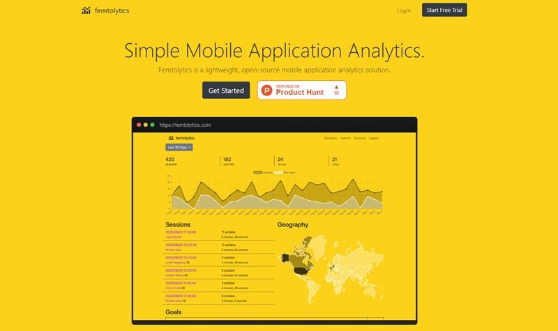オープンソースのシンプルなモバイルアプリ解析ツール・「Femtolytics」