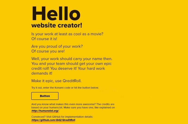 Webサイトに映画のようなスタッフロールを追加できるスクリプト・「QreditRoll」