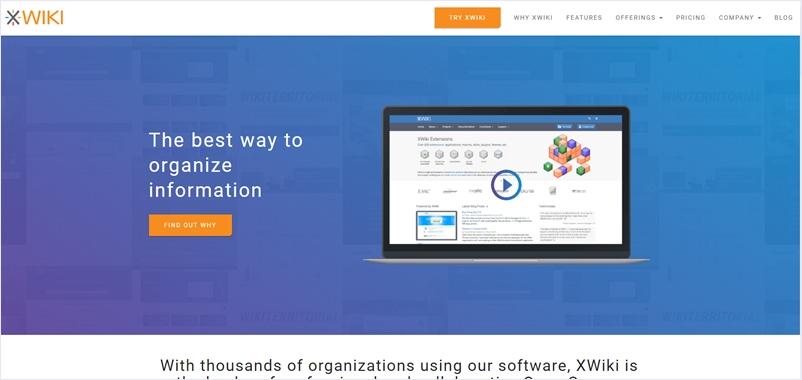 拡張可能なチーム向けWikiをオープンソースとして提供する・「XWiki」