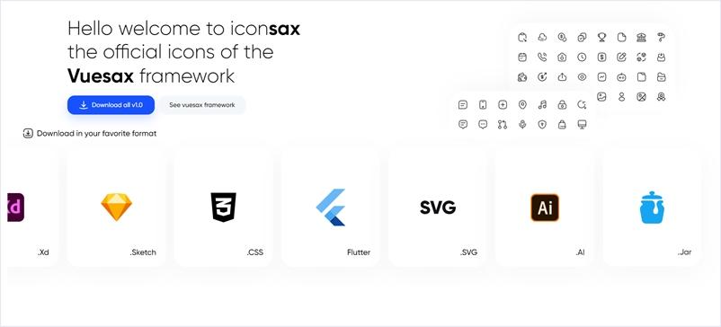 6000個のアイコンをOSSで配布するVuesax公式のアイコンセット・「iconsax」