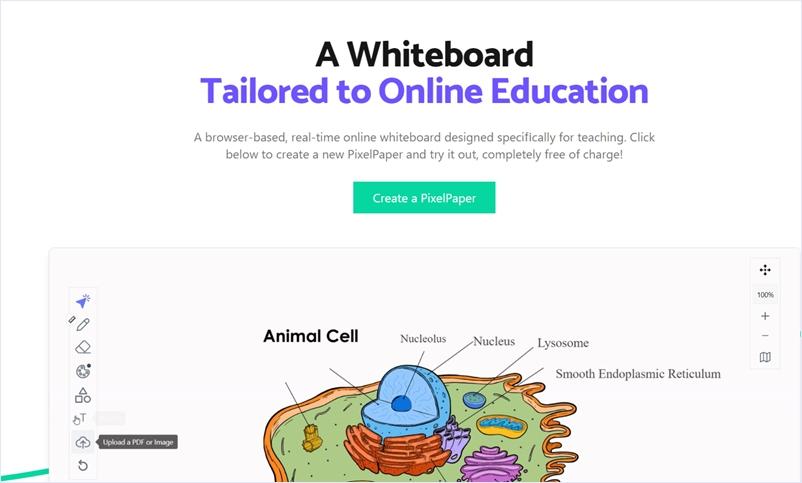 オンライン教育向けに開発されたリアルタイムホワイトボード・「PixelPapers」
