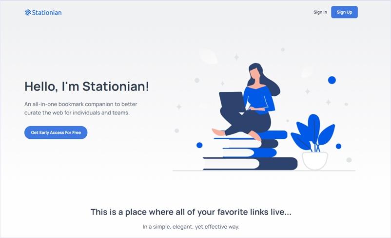 チームで使う為のオンラインブックマークサービス・「Stationian」